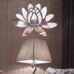 3D Lotus Blume Acryl Wandaufkleber Spiegel Aufkleber Wandtattoos für Schlafzimmer Wohnzimmer Badezimmer Dekoration