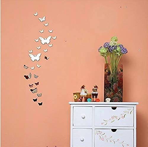 3D Schmetterling Wandtattoos Spiegel Style abnehmbar Aufkleber Art Wandbild Wand Aufkleber Haus Dekor