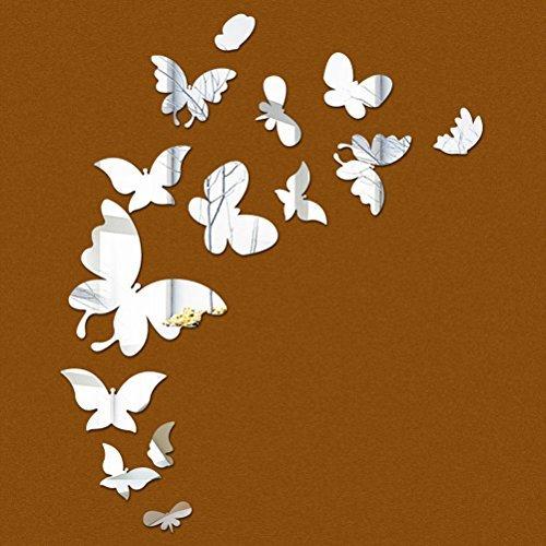 3D Spiegel Wandaufkleber Schmetterling Acryl Spiegel Wandtatto für Schlafzimmer Wohnzimmer Badezimmer Wanddeko