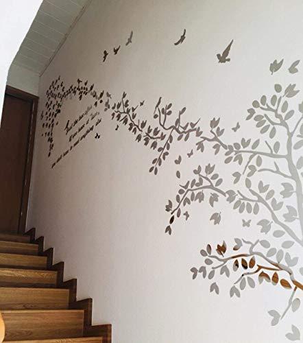 3D Wandaufkleber Baum Bäume Blätter Wind Wandtattoos Wanddekoration Schlafzimmer Babyzimmer Kinderzimmern -