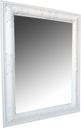 Wohnstyle Spiegel Wandspiegel Weiss Barock Leila 65 x 50 cm Holzrahmen Edel