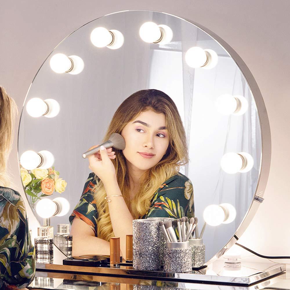 Chende Hollywood Spiegel - Licht Schminkspiegel mit Beleuchtung für Schminktisch, LED Kosmetikspiegel 2