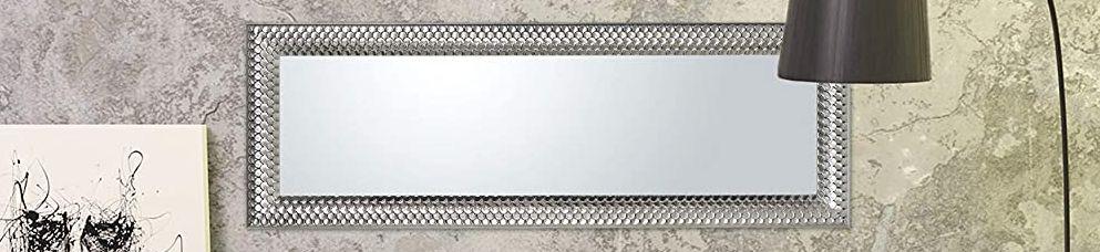 Spiegel Wandspiegel Hängespiegel Silber Holzrahmen Rechteckig Luxus Edel Schlafzimmer Flurspiegel