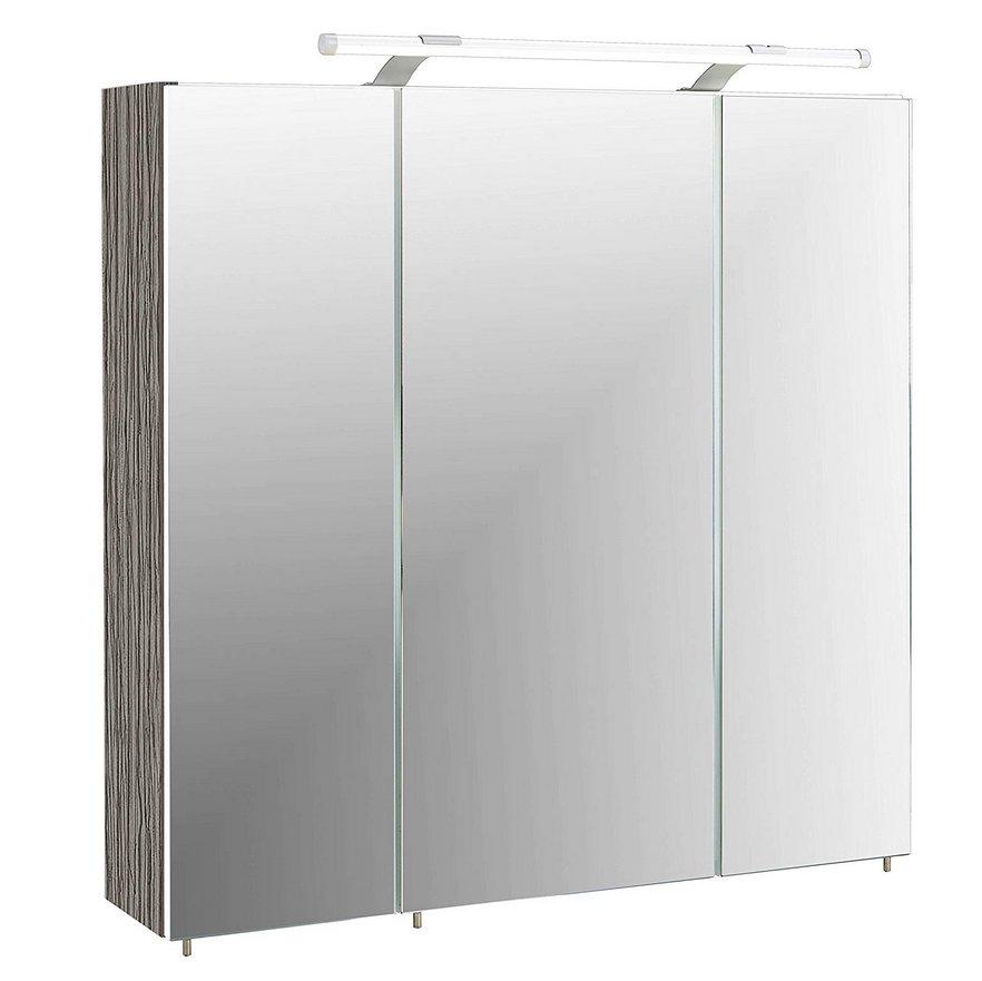 Spiegelschrank-Badezimmerschrank-Badschrank-weiß-mit-Licht