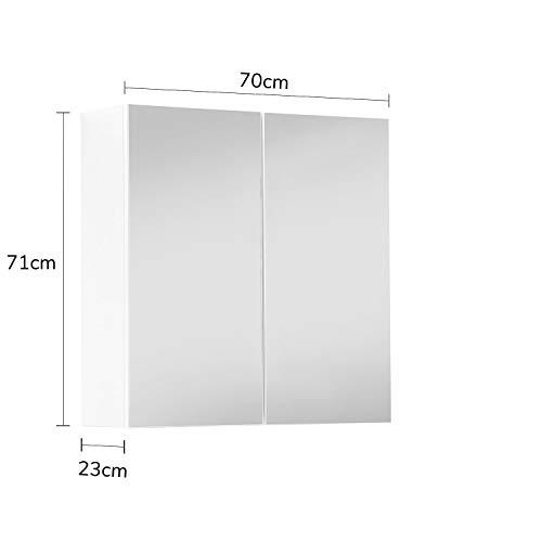 Bad Spiegelschrank moderner Badschrank mit Spiegel & Badezimmerschrank 70x71x23 -