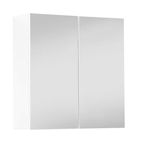 Bad Spiegelschrank moderner Badschrank mit Spiegel & Badezimmerschrank 70x71x23