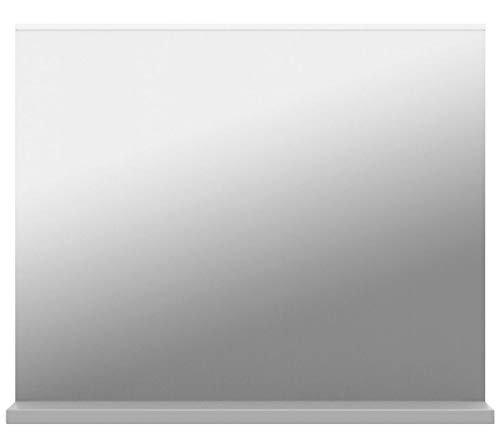 Badezimmer Spiegel mit Ablage – moderner Wandspiegel 60 x 50 x 10 cm in Weiß -