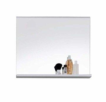 Badezimmer Spiegel mit Ablage - moderner Wandspiegel 60 x 50 x 10 cm in Weiß