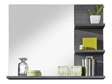 Badezimmer Wandspiegel Spiegel Badezimmerspiegel  72 x 57 x 17 cm in Rauchsilber Dekor mit Ablagefläche