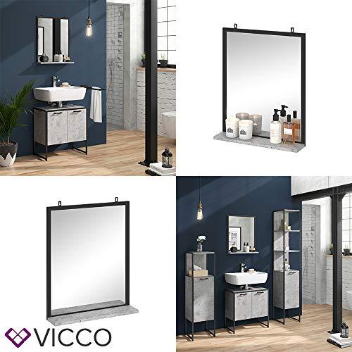Badspiegel Badezimmerspiegel mit Ablage Wandspiegel für Badezimmer Beton -