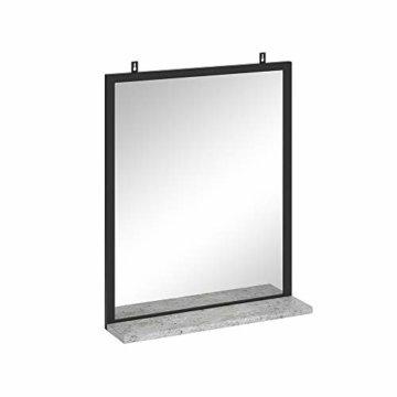 Badspiegel Badezimmerspiegel mit Ablage Wandspiegel für Badezimmer Beton