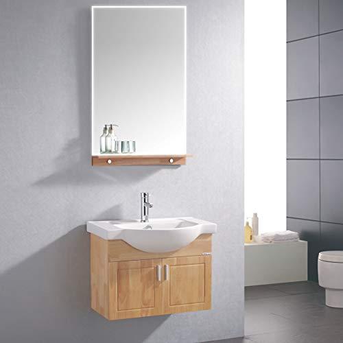 Badspiegel mit Beleuchtung Wandspiegel 80 * 60cm beschlagfrei mit Touchschalter LED Lichtspiegel -
