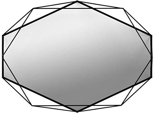 Design Luxus Wandspiegel Dekorativer Spiegel Art Deko außergewöhnlich und edel Metall Schwarz -