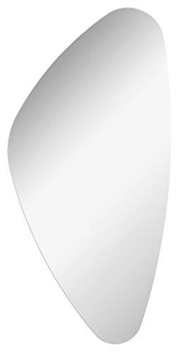 Spiegel Wandspiegel abstrakte runde Form 41x76x2 cm hochwertiger moderner Badspiegel