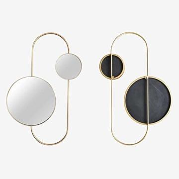 Großer runder moderner WandspiegelKosmetikspiegel minimalistischer metall Designspiegel einzigartige Inneneinrichtung -