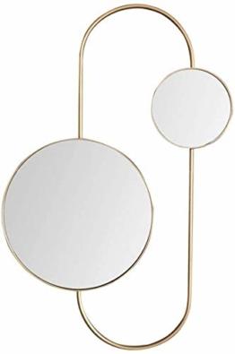Großer runder Wandspiegel Kosmetikspiegel moderner minimalistischer metall Designspiegel einzigartige Inneneinrichtung