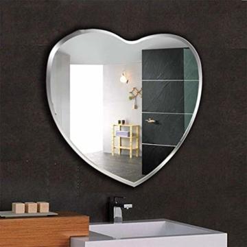 Herzförmiger Wandspiegel Schlafzimmer Herzspiegel Facette abgeschrägte Kante Designspiegel Herz -