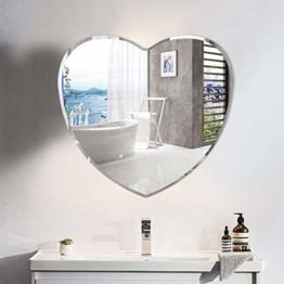 Herzförmiger Wandspiegel Schlafzimmer Herzspiegel Facette abgeschrägte Kante Designspiegel Herz