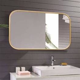 Großer Rechteckiger Spiegel Abgerundeter Designspiegel Eingangsbereiche Waschräume Wohnzimmer 50X80