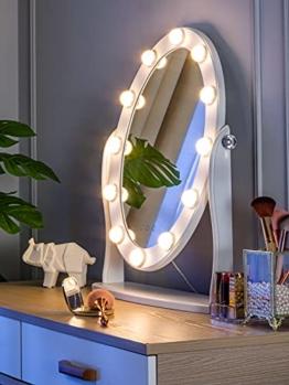 Hollywood beleuchteter Kosmetikspiegel LED-Leuchten dimmbares Licht mit Touch-Steuerung Schminktisch