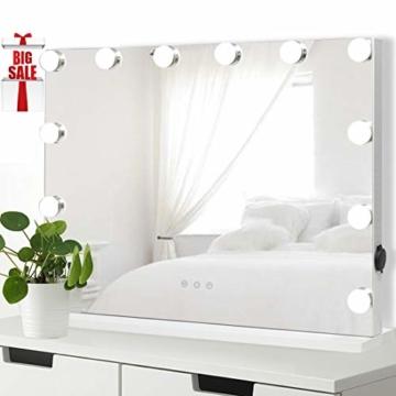 Hollywood Schminkspiegel für Schminktisch Makeup Spiegel mit Licht Dimmbare LED Lampen Tischspiegel Kosmetikspiegel -