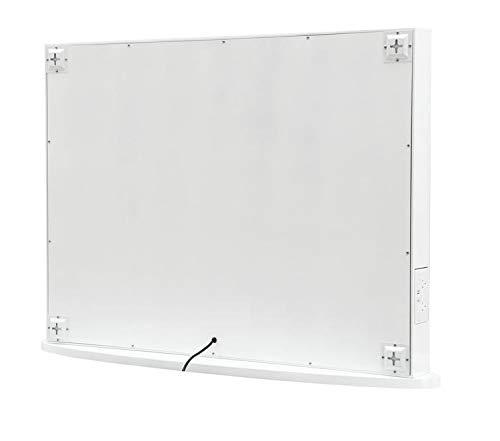 Hollywood Spiegel 80 x 65 cm Rahmenlos Make-up Spiegel Schminkspiegel Kosmetikspiegel Theaterspiegel mit Beleuchtung -