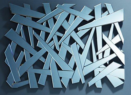 Design Wandspiegel großer moderner Designer-Dekospiegel ausgefallener XXL-Designspiegel in Scherbenoptik 140x100x3cm