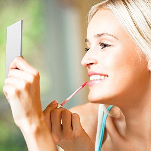 Kleiner Spiegel Portable Klappspiegel Tasche Kosmetikspiegel Kompaktspiegel für Make-up Hair Styling Silber -