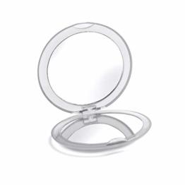 Kosmetik Spiegel Schminkspiegel Klappspiegel 5X Vergrößerung Taschenspiegel Klein für Frauen Make Up Spiegel