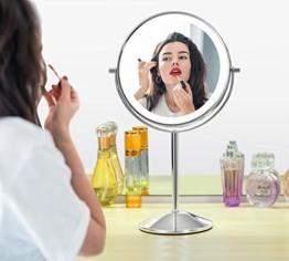 Kosmetikspiegel beleuchteter Schminkspiegel mit Vergrößerung Makeup Spiegel Touchscreen Helligkeit Drehbar