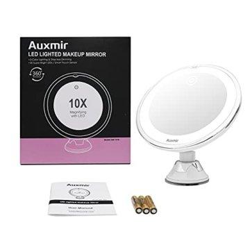 Kosmetikspiegel LED Beleuchtet mit Vergrößerung Schwenkbarer Schminkspiegel mit Beleuchtung -