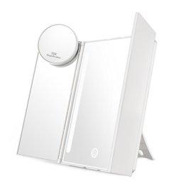 Kosmetikspiegel mit LED Licht Schminkspiegel Bleuchtung für Schminken Makeup Spiegel Dimmbare Helligkeit