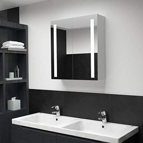 LED-Bad-Spiegelschrank mit Beleuchtung - modernes schönes Design 62 x 14 x 60 cm