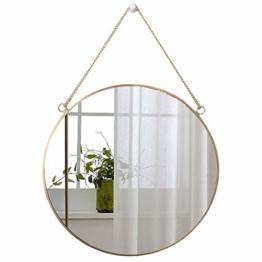 Runder Spiegel Wanddeko Wandspiegel Badspiegel Goldener Spiegel Flur Bad & Gäste Wc 40 x 40 cm