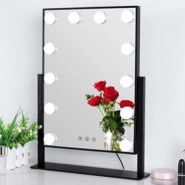 Spiegel mit Beleuchtung Drehbar Hollywood Spiegel LED Schminkspiegel mit Licht L 35.5cm * H 47.5cm