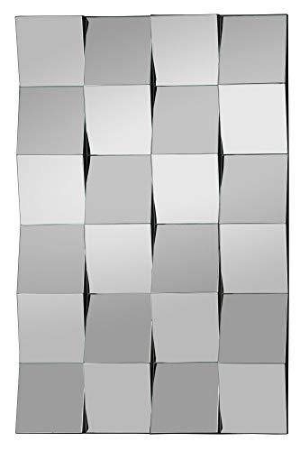 Moderner Kachel 3D Design Wandspiegel Designspiegel (HxB) 90×60 cm Eingangsbereich Wohnzimmer -