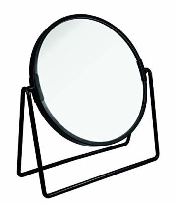 Beauty Kosmetikspiegel schwarz Vergrößerung zum Schminken Frisieren Rasieren Make-Up