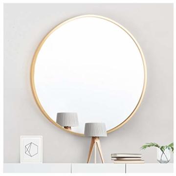 Runder Spiegel mit Rosegold Metallrahmen Wandspiegel 50cm für Badzimmer Ankleidezimmer oder Wohnzimmer Schminkspiegel
