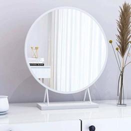 Runder Wand Hänge Schminkspiegel Runder Designspiegel Metallrahmen für Schlafzimmer Badezimmer Wohnzimmer