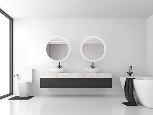 Runder Wandspiegel ø60cm mit Beleuchtung und Spiegelheizung LED Badspiegel mit Touch-Schalter,Lichtspiegel -