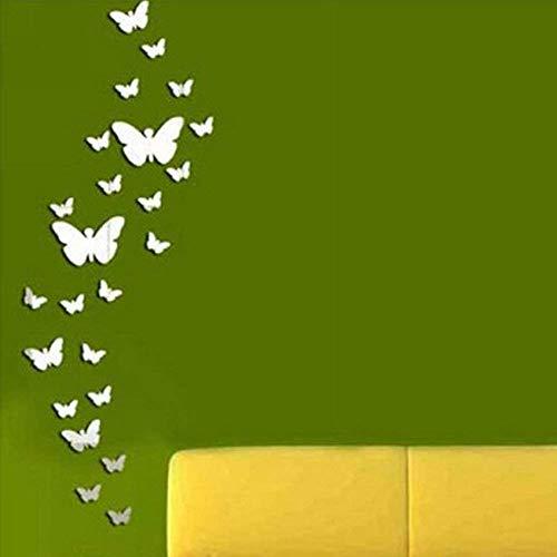 Schmetterlinge Kombination 3D Spiegel Wand Aufkleber Wandtattoos Sticker Homedekor