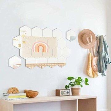 Sechseckiger Spiegel Wandaufkleber Dekorative Spiegel Wand Kunststoff Fliesen für Home Wohnzimmer