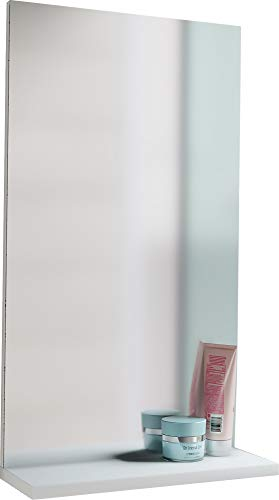 Spiegel Badspiegel Wandspiegel mit Ablage Badmöbel Sesal 60 x 35 x10 cm Weiß -