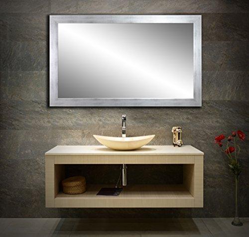 Spiegel mit Rahmen 32 GRÖßEN – 11 Farben handgefertigter breiter Fester Rahmen Farbe: Weiß Matt -