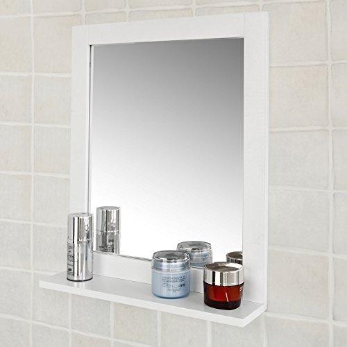 Spiegel Wandspiegel Badspiegel mit Ablage weiß BHT: 40x49x10cm -