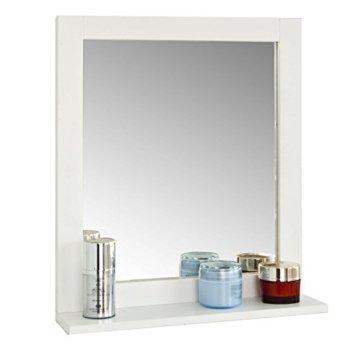 Spiegel Wandspiegel Badspiegel mit Ablage weiß BHT: 40x49x10cm