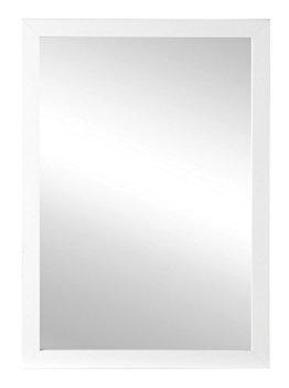 Spiegel Wandspiegel Flurspiegel ca. 50 x 70 cm | Holz Rahmen Weiß Hochglanz