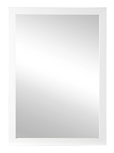 Spiegel Wandspiegel Flurspiegel ca. 50 x 70 cm   Holz Rahmen Weiß Hochglanz