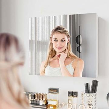Spiegelschrank Bad Badezimmer 70 x 15 x 60cm breit Wandspiegel Badspiegel mit Ablage Hängeschrank Badschrank