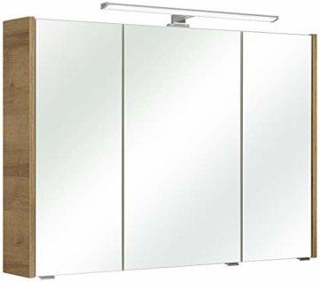 Spiegelschrank Holzdekor Riviera Eiche Quer Nachbildung 18 x 100 x 70 cm Holzschrank Badschrank modern